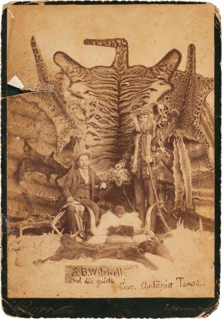 44023: [Texas Rangers]. Robert Hall Albumen Card Photog