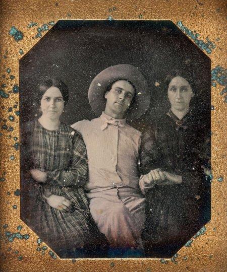 44024: [Texas Rangers]. Sixth-Plate Daguerreotype of an