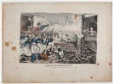 44029 Mexican War Lithograph Battle of Monterey