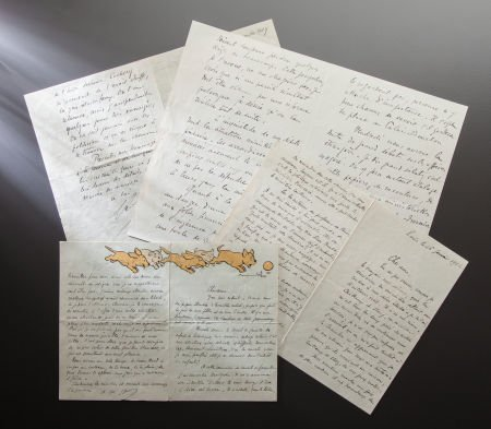 89003: NINETEEN HANDWRITTEN LETTERS FROM FRENCH OFFICIA