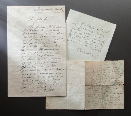 89017: THREE LETTERS FROM RENOIR TO UNIDENTIFIED PERSON