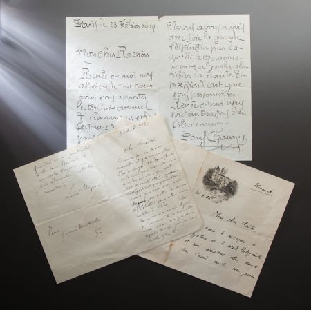 89019: COLLECTION OF LETTERS AND DOCUMENTS TO RENOIR  T