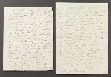 89022: TWO LETTERS FROM RENOIR TO ALINE REMINISCING OF