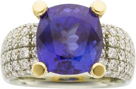 64003: Jean Francois Albert Tanzanite, Diamond, Gold Ri