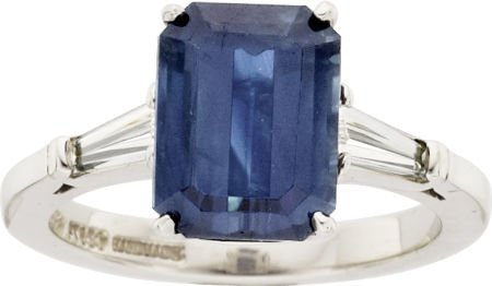 64005: Aletto Brothers Sapphire, Diamond, Platinum Ring