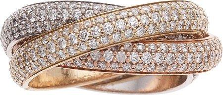 64098: Cartier Diamond, Gold Ring