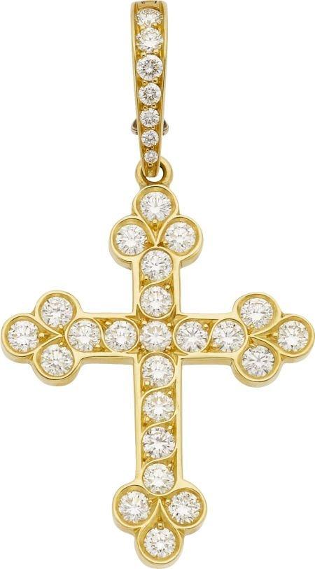 64014: Cynthia Bach Diamond, Gold Pendant