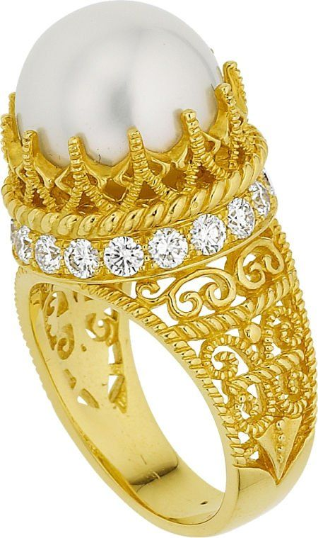 Cynthia Bach South Sea Cultured Pearl, Diamond,