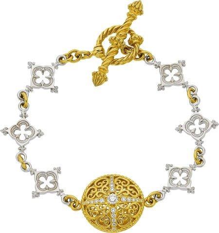 64016: Cynthia Bach Diamond, Gold Bracelet