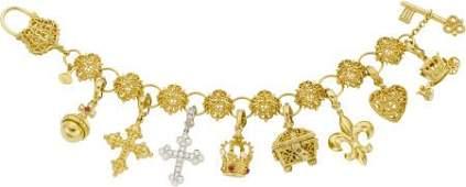 64017: Cynthia Bach Diamond, Ruby, Cultured Pearl, Gold