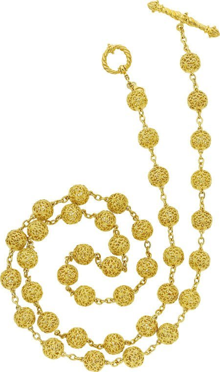 64023: Cynthia Bach Gold Necklace