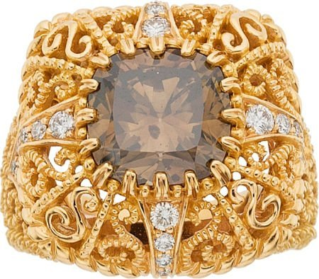 64025: Cynthia Bach Diamond, Gold Ring