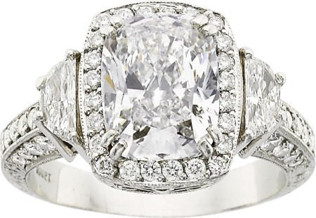64053: Michael Beaudry Diamond, Platinum Ring