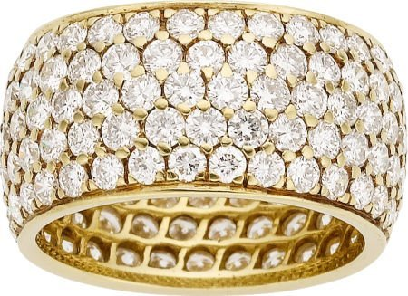 64097: Cartier Diamond, Gold Ring