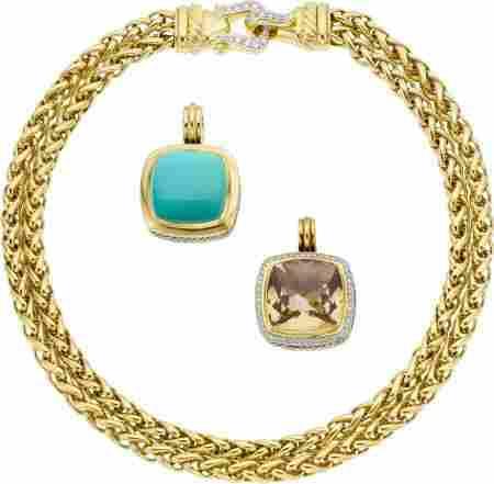 64719: David Yurman Turquoise, Smoky Quartz, Diamond, G