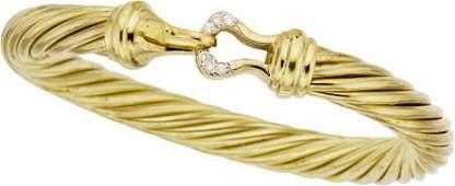David Yurman Diamond, Gold Bracelet