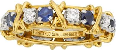 64659 Jean Schlumberger for Tiffany  Co Sapphire D