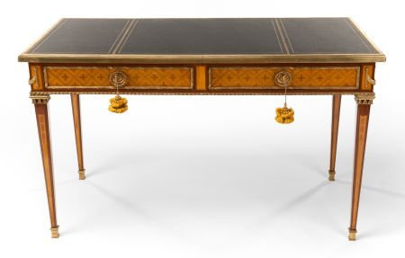 62011: A LOUIS XVI-STYLE MAHOGANY PARQUETRY AND GILT BR