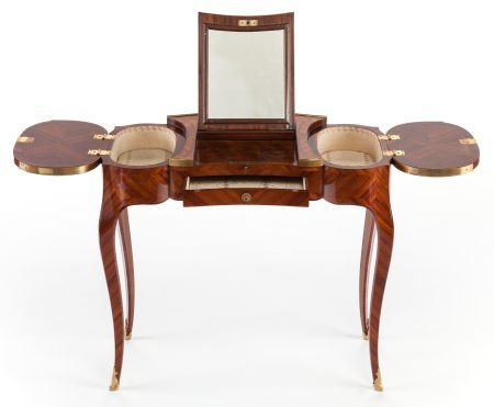 62017: A LOUIS XV-STYLE MARQUETRY DRESSING TABLE Early