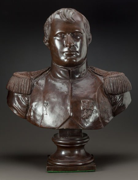 62636: A PATINATED COPPER BUST OF NAPOLEON  Dated 1828