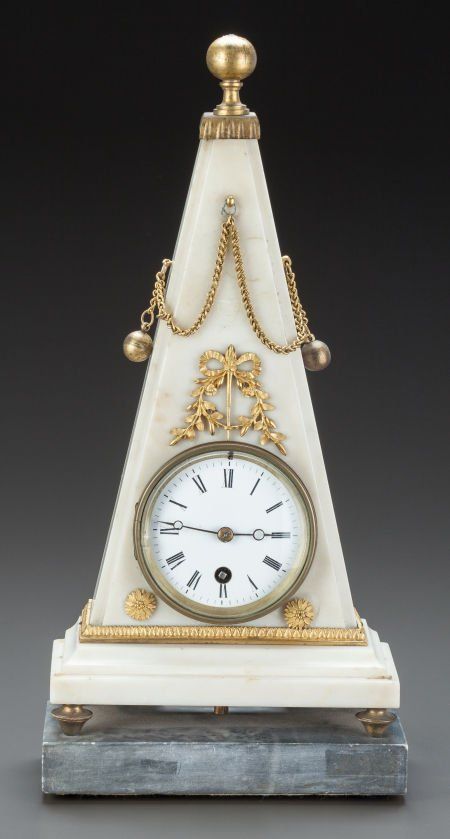 62644: AN EMPIRE-STYLE WHITE MARBLE AND GILT BRONZE MOU