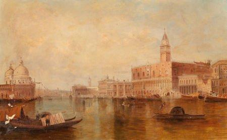 62652: CONTINENTAL SCHOOL (19th Century) Pair of Venice