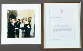 62823: A FRAMED LETTER SIGNED FROM LADY DIANA TO BROOKE