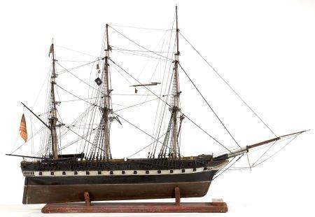 62655: A SAILOR'S SHIP MODEL OF THE FRIGATE SUPERBE 37