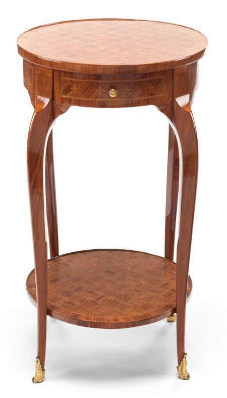 63385: A LOUIS XV-STYLE KINGWOOD PARQUETRY SIDE TABLE 2