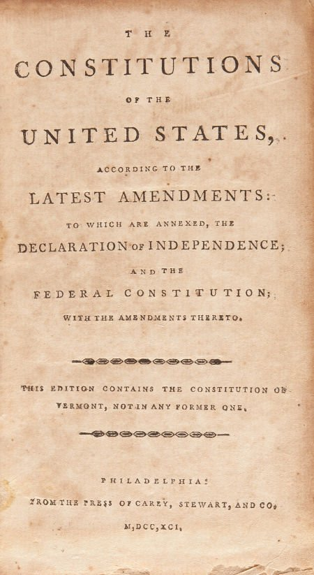 36004: [Early American Imprints]. The Constitutions of