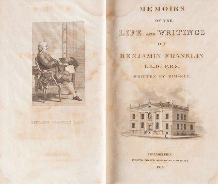 36008: Benjamin Franklin. Memoirs of the Life and Writi