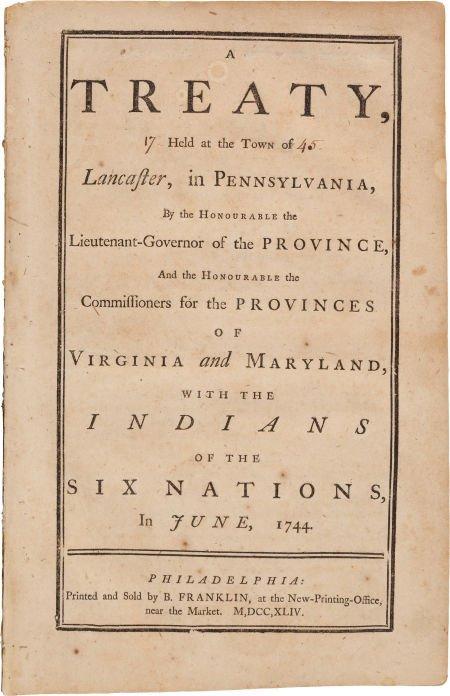 36009: [Benjamin Franklin, printer]. A Treaty, Held at