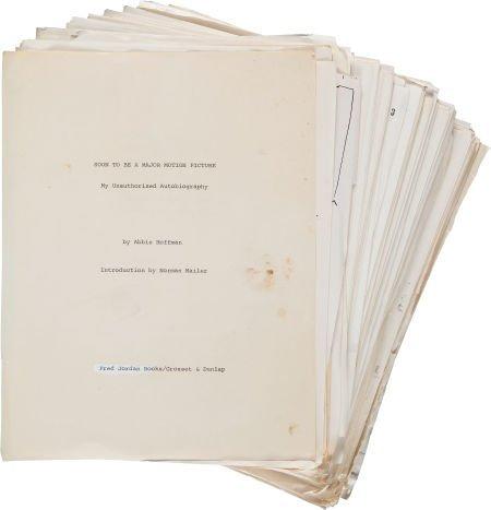36011: Abbie Hoffman. Archive of Manuscript Material. [