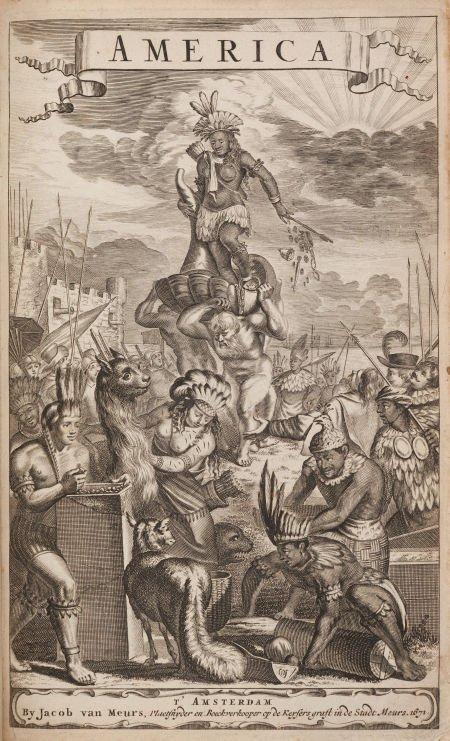 36018: Arnoldus Montanus. De Nieuwe en Onbekende Weerel