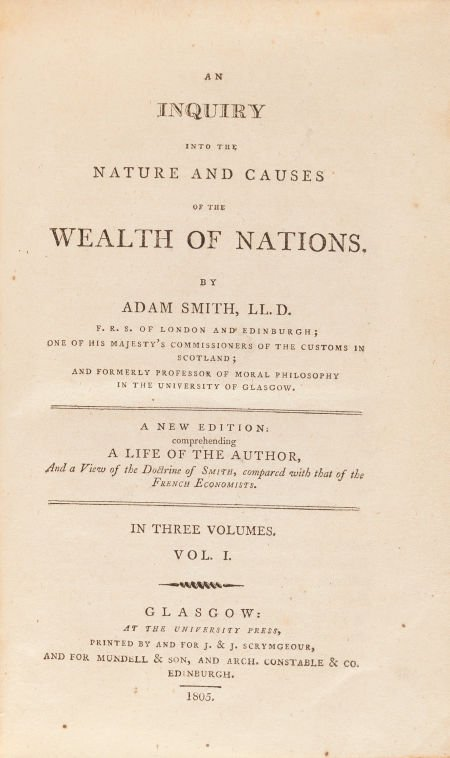 36244: Adam Smith. An Inquiry Into the Nature and Cause