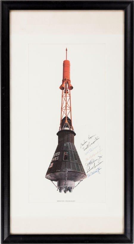 "40005: Mercury Seven Astronauts: Rare McDonnell ""Mercur"