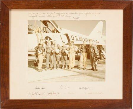 40008: Mercury Seven Astronauts: Large Color Photo Sign