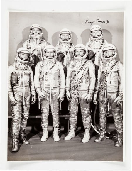 40011: Mercury Seven Astronauts: Photo Signed by All.