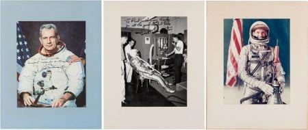 40012: Mercury Seven Astronauts: Three Individually-Sig