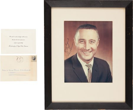 40019: Gus Grissom Signed Color Photo with Acknowledgem