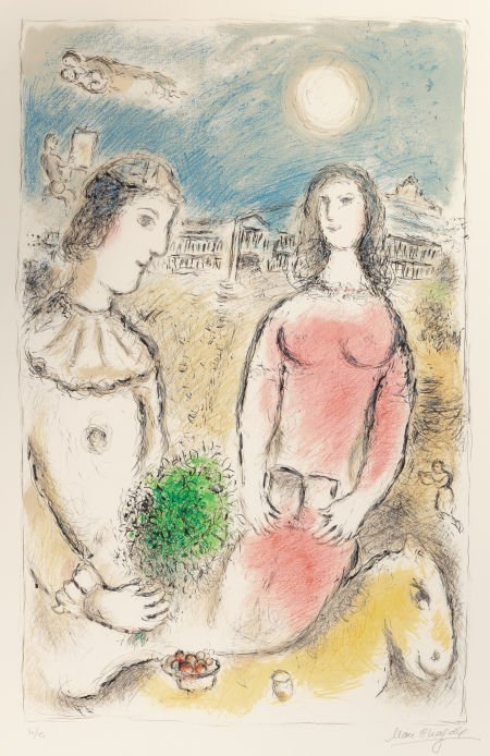 64008: MARC CHAGALL (Belorussian, 1887-1985) Le Couple