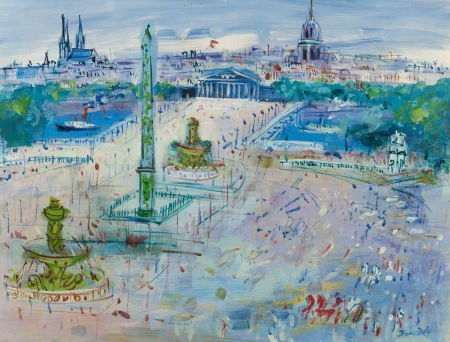 64023: JEAN DUFY (French, 1888-1964) Place de la Concor