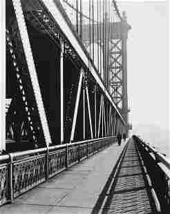 74073: BERENICE ABBOTT (American, 1898-1991) Walkway, M