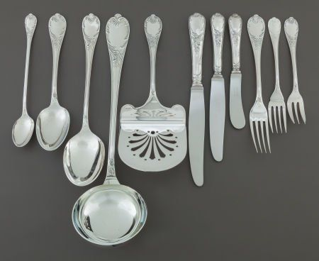 68026: A SIXTY-EIGHT PIECE CHRISTOFLE FRENCH SILVER-PLA