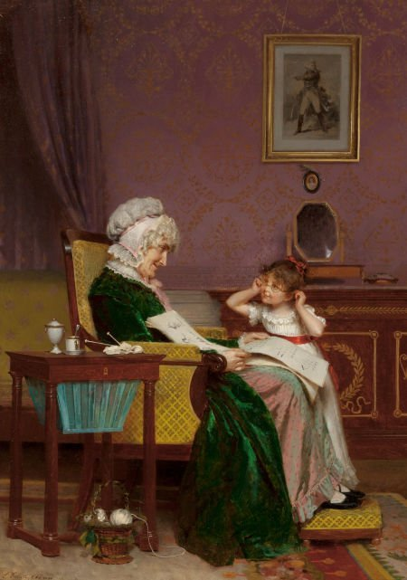 63011: LOUIS EMILE ADAN (French, 1839-1937) The First L