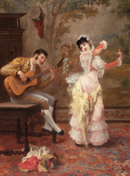 63013: JULES JAMES ROUGERON (French, 1841-1880) The Dan