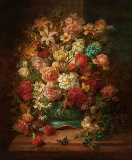 63021: HANS ZATZKA (German, 1859-1945) Still Life with
