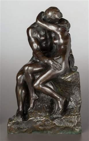 63049: AUGUSTE RODIN (French, 1840-1917) Le Baiser, 3èm