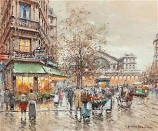 63085: ANTOINE BLANCHARD (French, 1910-1988) Gare de L'