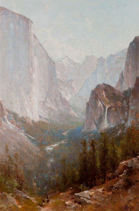 70003: THOMAS HILL (American, 1829-1908) Yosemite, 1889